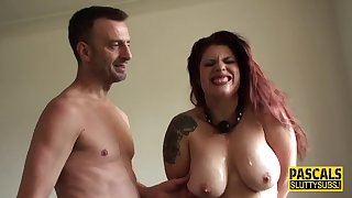 Large-Breasted bound sub throated - bdsm