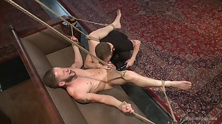 Wolf Hudson partakes in gay male slave training, and the result is hot