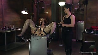 Rough female domination in scenes of kinky BDSM