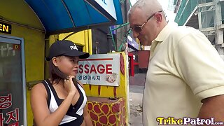Amateur Asian chick Krizta gets intimate with one kinky old foreigner
