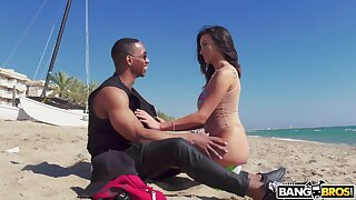 Hardcore interracial fucking with cock hungry model Alyssia Kent