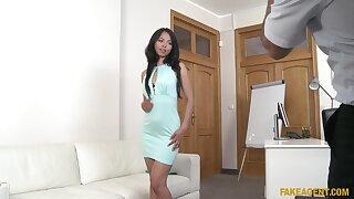 Interracial fucking during casting with Asian cutie Jureka Del Mar