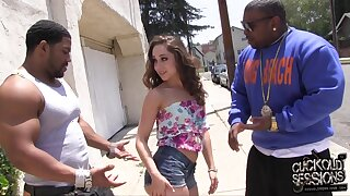 Slutty chick Remy LaCroix cheats unaffected by her boyfriend with black dudes