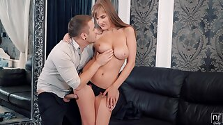 Big Russian breast in sperm or crazy making love fun with hot babe Eva Kays
