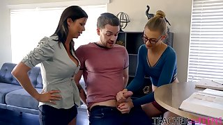 Surprising heavy breasted MILF Alexis Fawx lures dude in the air get slit fucked doggy