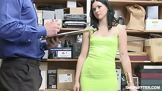 Lovely awaiting Violet Rain gets mouthfucked with an increment of hammered mish by cop