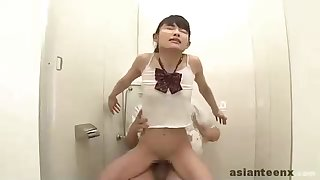 Working Asian nubile is having a ultra-kinky fuckfest activity with a gang of insane boys