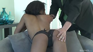 Jazzy Jamison screams from pleasure while her lover fucks her