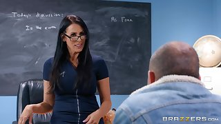 There is nothing better for Reagan Foxx than a sex on the classroom table